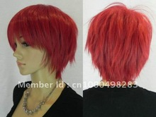 free Shipping*2012 Vogue short red lady's wig(China (Mainland))