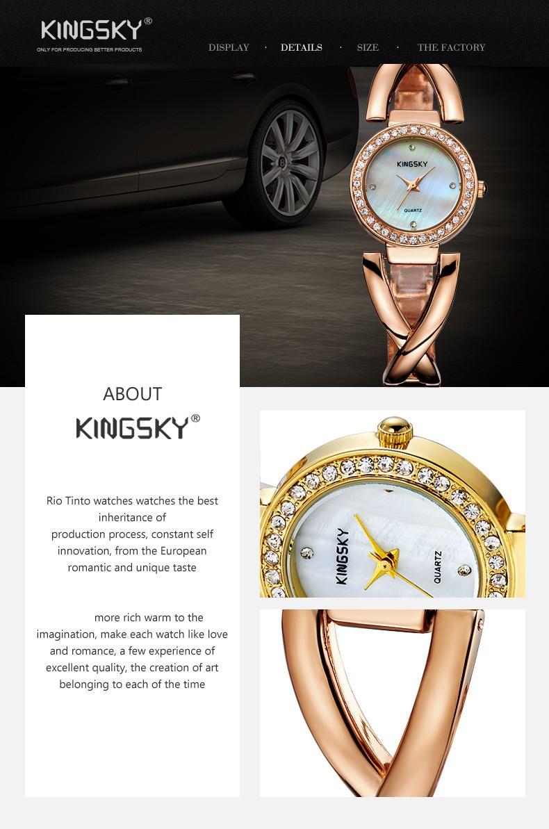 Горячий Продавать 2015 Новая Мода Женщины Полный сталь Ремешок Band Аналоговое Кварцевые Наручные Часы K8007