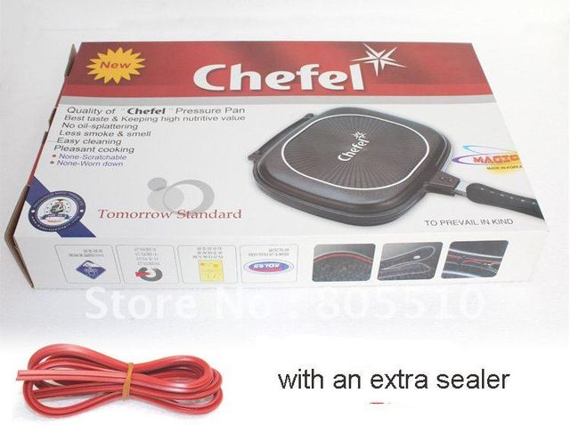"HOT! 30cm chefel double side grill pan ""FREE SHIPPING"""