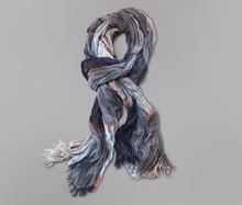 2015 Wholesale Brand Winter Scarf Men Warm Soft Tassel Bufandas Cachecol Gray Plaid Woven Wrinkled Cotton Men Scarves 184*60cm(China (Mainland))