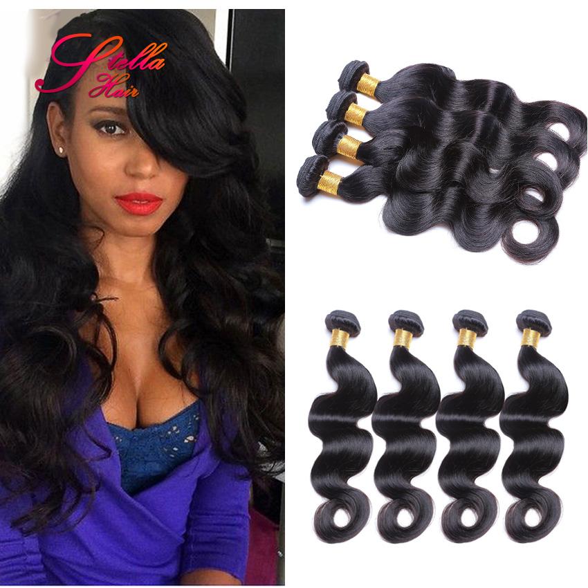 Brazilian Virgin Human Hair Body Wave Unprocessed Virgin Brazilian Hair Weave Bundles Body Wave 4Pcs Lot Brazilian Hair Weave