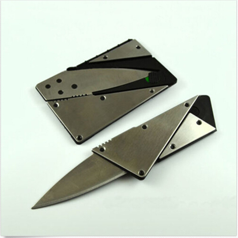 New 1PC Credit Card Knife With Steel Handle Folding Safety Knife Outdoor Camping Survival Pocket Tool MS171 High Quality(China (Mainland))