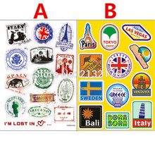 Buy 2 Designs travel PVC Waterproof sticker bomb Luggage Suitcases Guitar Skateboard laptop stickers Car Styling for $2.06 in AliExpress store