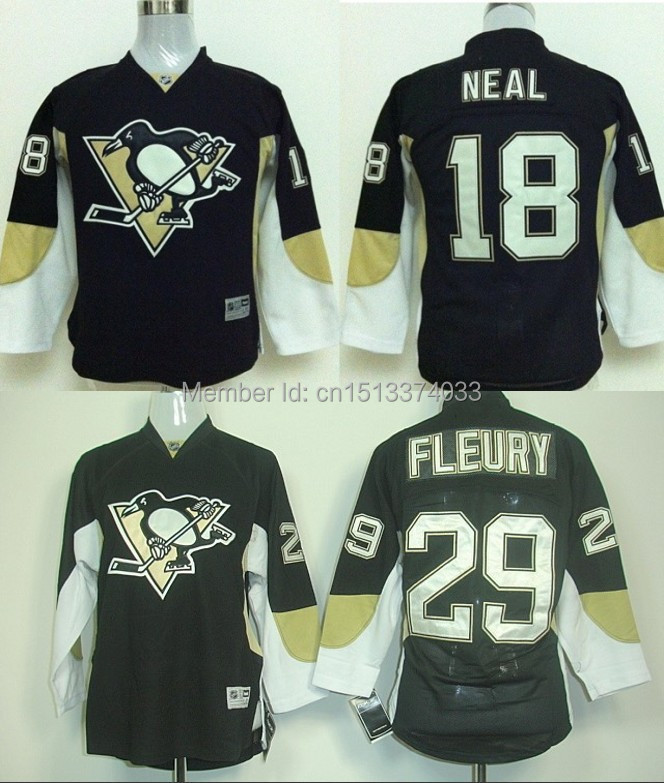 Youth/Kids Pittsburgh Penguins #18 Neal # 29 Marc-Andre Fleury Cheap Hockey Jerseys ICE Winter Stitched Free Shipping S/M, L/XL<br><br>Aliexpress