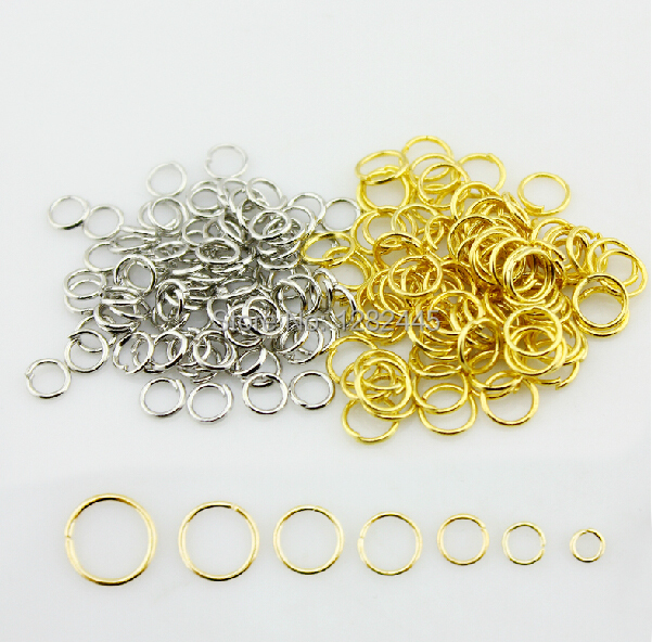 shipping free 6mm metal thick silver/18k gold plated o ring split ring jump ring(China (Mainland))