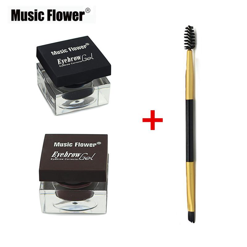 Brand Cosmetics Multifunction Eyebrow Makeup Kit Eye Brow Gel & Eyeliner Gel & Mascara Eye Liner Set Black + Light/Dark Brown(China (Mainland))