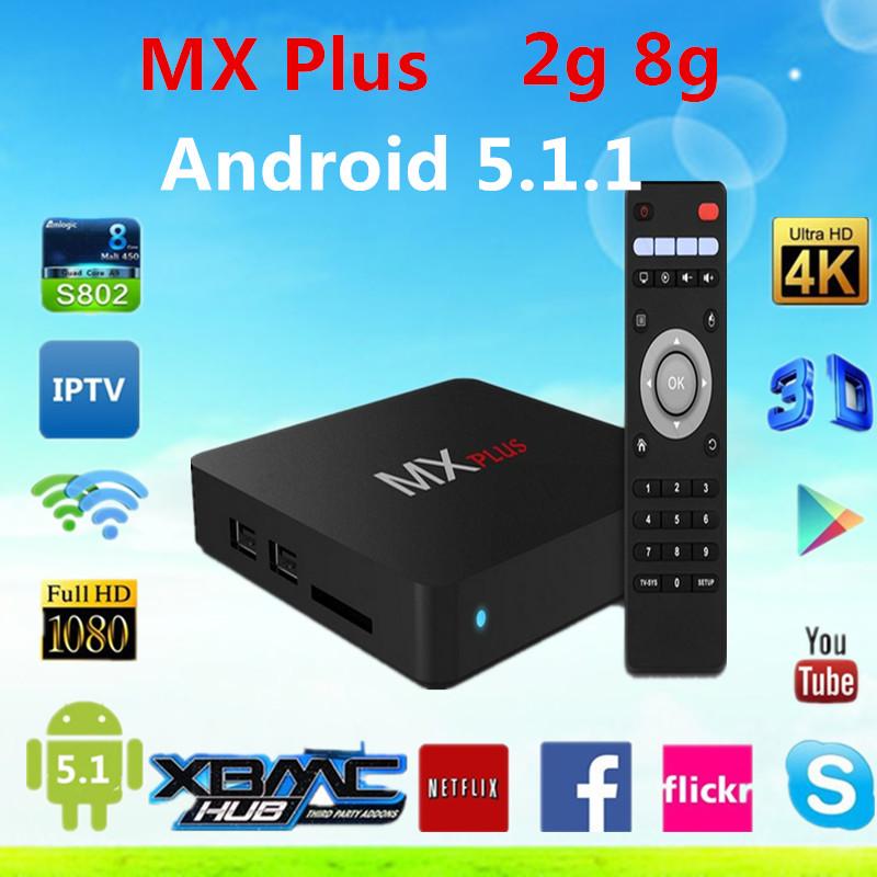 Здесь можно купить  3pcs android tv set top box Amlogic S905 2G/8G ROM  MX Plus full loaded Airplay APK & ADD-ONS Android TV Box Quad Core Smart TV  Бытовая электроника