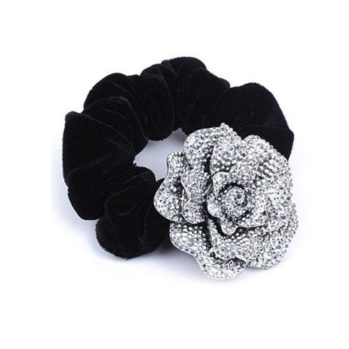 Fashion Elegant Women's Crystal Flower Headband Ladies Lint Fabric Covered Hairband Hair Accessories Hair Jewelry FF2013432(China (Mainland))