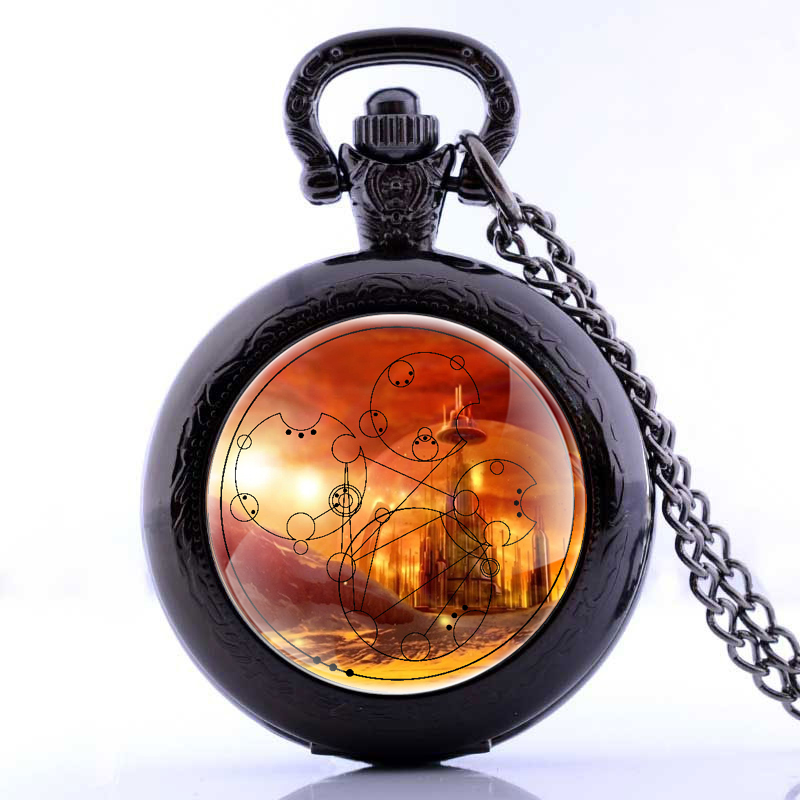 High Quality 3 Colors Fantasy World Design Locket Necklace Pocket Watch Men Women Pob Watch P2199(China (Mainland))