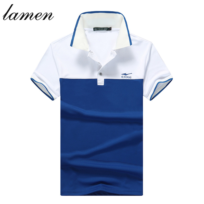 Lamen Brand Clothing Men's Tops Tees Polo Shirts Men's Polo Shirt Men Cotton Short Sleeve Jerseys Golf Tennis Sports Shirt(China (Mainland))