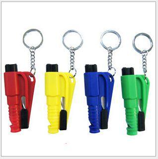 Mini Keychain Car Emergency Rescue Safety Tool Window Glass Breaker Seat Belt Cutter Car Knife Tool Glass Breaker Life Hammer(China (Mainland))