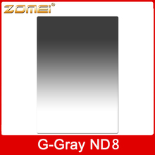 ZOMEI 150mm*100mm Square graduated neutral density Grey ND8 filter for Z size professional camera filter(China (Mainland))