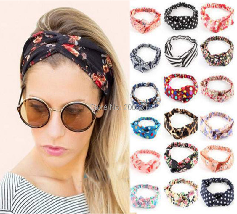 1Pcs Eelastic Turban Head Wrap Headband Twisted Knot Hairband for Women Lady Stretch Twist Headband Turban Sport Yoga Hairband(China (Mainland))