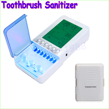 1pcs Wireless UV Light Ultraviolet Toothbrush Sterilizer Sanitizer Cleaner With Temperature Sensor Drop freeship(China (Mainland))