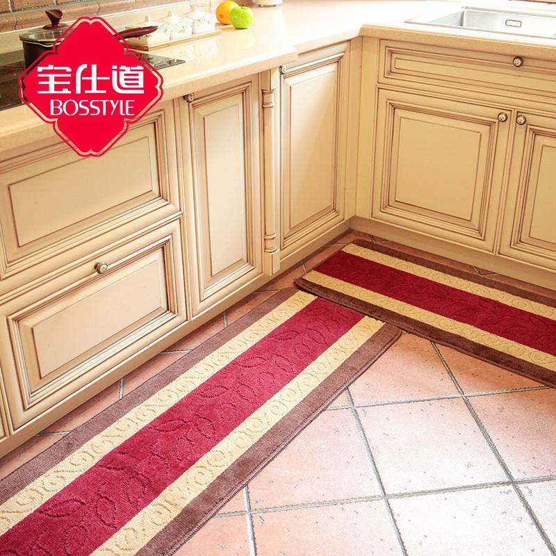 Kitchen Rug Set kitchen Floor Rug Washable Floor Runner Stripe Pattern Rugs Non-Slip (W:40cm-45cm;L:60cm-180cm)(China (Mainland))