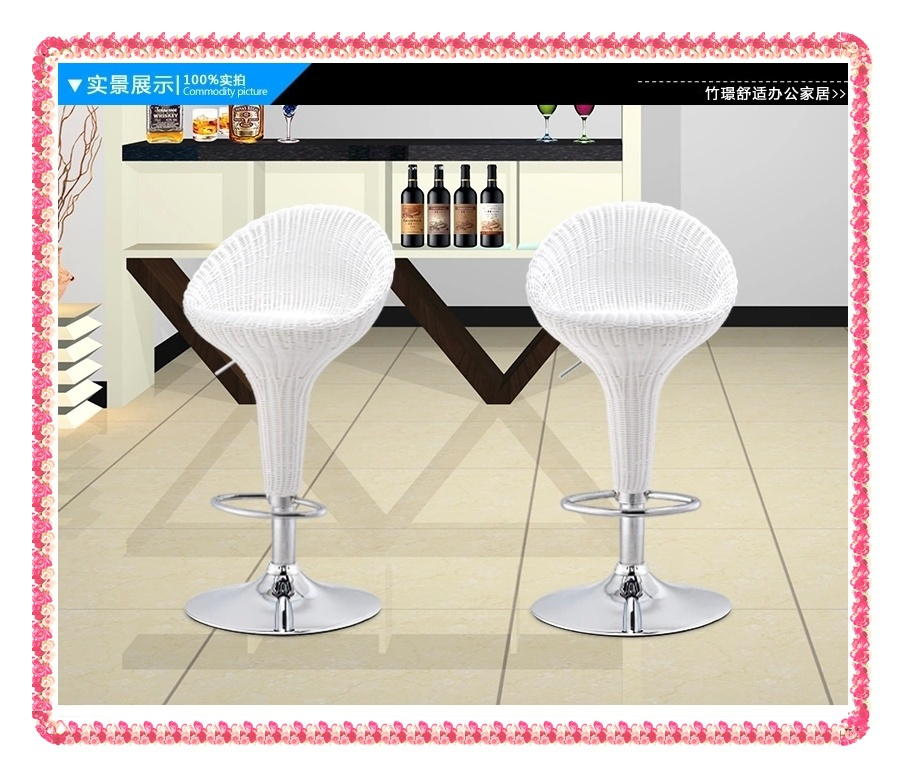 White Rattan receptions stools rotary bar stools hot selling <br><br>Aliexpress