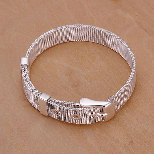 Bracelet 925 Silver Bracelet 925 Silver Trendy Jewelry Bracelet Mesh Strap Jewelry Wholesale Free Shipping awra LH237(China (Mainland))