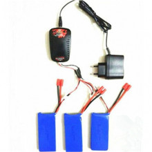 Syma X8C X8W X8G RC Quadcopter 3x 7.4V 2500mAh Battery +Balance Charger +3-port US Plug Charger Adapter