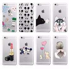 Lovely Girly Lipstick Perfume Makeup Cat Butterfly Soft Tpu Phone Case Fundas For iPhone 7Plus 7 6 6S 5 5S SE 4 Samsung Galaxy(China (Mainland))