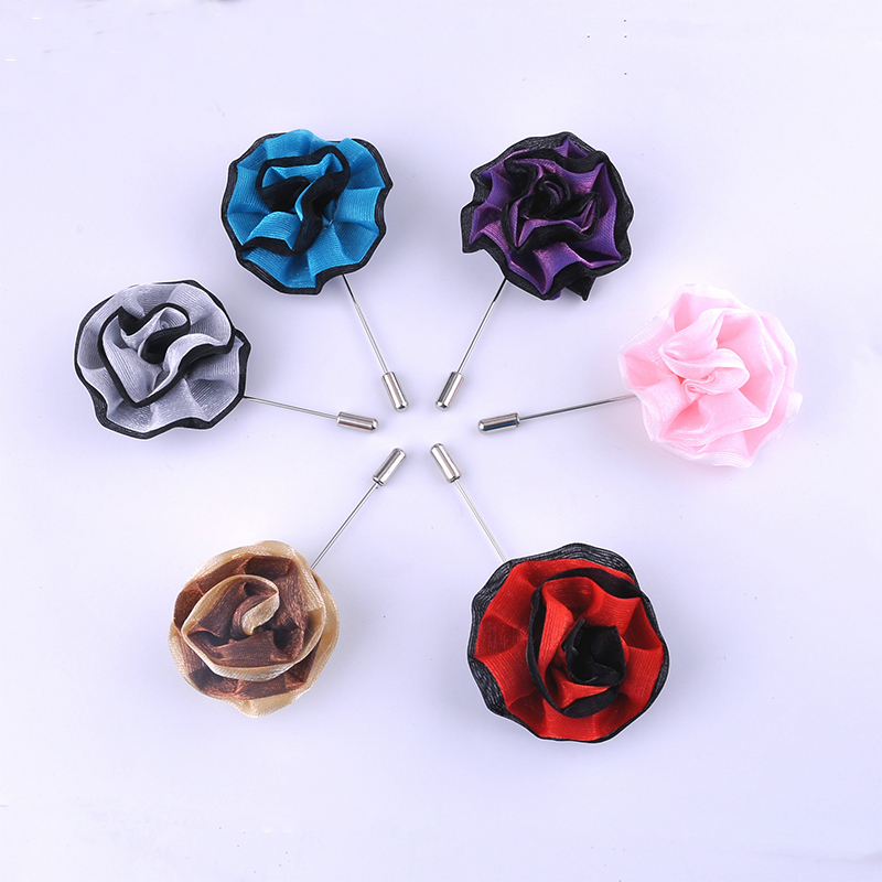 Hot Selling Groom Wedding Brooches Lapel Pins Popular Men's Suit Brooch Cloth Handmade Mens Brooches Corsage Clothes Accessories(China (Mainland))