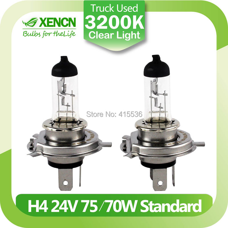New XENCN H4 P43t 24V 75/70W 3200K Clear Series Original Truck Headlight OEM Quality Halogen Bulb Auto Lamps Free Shipping 2PCS(China (Mainland))