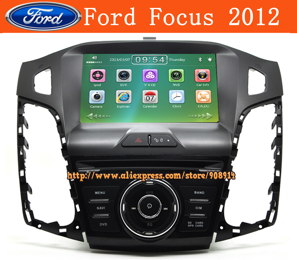 "Free Shipping NEW 8""Car Dvd Player For Ford focus 2013 2012 With Gps Bluetooth Audio Radio Ipod Free Map Card(China (Mainland))"
