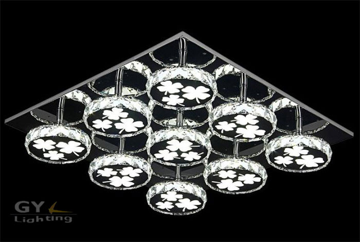 AC100-240V Four Leaved Clover bunge bedstraw herb LED ceiling lights Modern LED crystal 7w to 84w lustres iluminacion led techo<br><br>Aliexpress