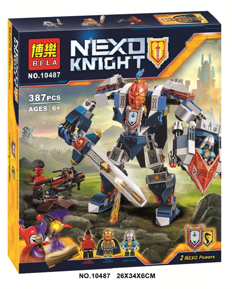 BELA 387pcs/set Nexo Knights King's Mech Combination Marvel Building Blocks Kits Toys Minifigures Compatible Legoe Nexus  -  Toy's center store