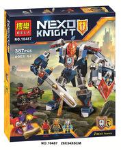 BELA 387pcs/set Nexo Knights King's Mech Combination Marvel Building Blocks Kits Toys Minifigures Compatible Legoe Nexus - Toy's center store