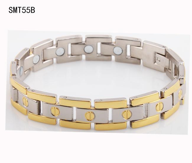 2015 New fashion jewery men 316l stainless Steel mens Bracelets&bangles health magnetic gold Women cross Bracelet - ZZ Jewelry store