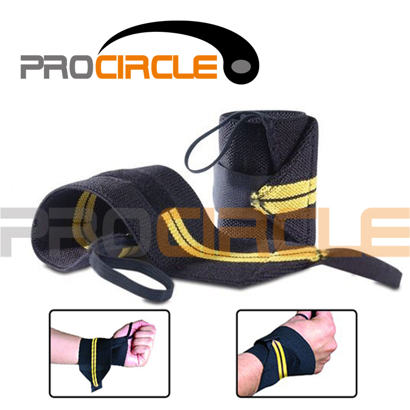 Hot Sale!! ProCircle Cotton Weight Lifting Barbell Wrist Wrap with Thumb Loop(China (Mainland))