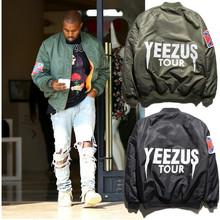 Mens Brand Ma1 Bomber Jackets 2016, West Flight Pilot Hip Hop Jackets, Kanye West Yeezus Bomber Jackets,Print Men's Windbreakers