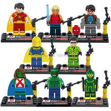 Wholesale D856 Building Blocks Super Heroes Avengers Ultron MiniFigures Myperion/DR Fate/Mis Marian/Riddler/Croc Mini figures
