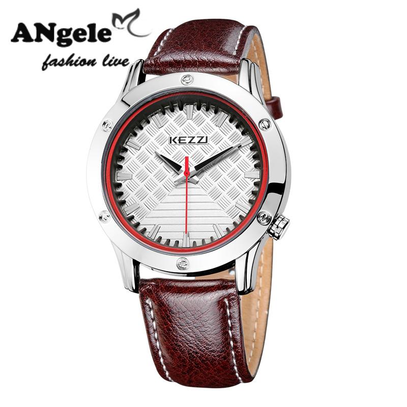 Luxury Brand KEZZI Mens Sports Watch Fashion Formal Japan Movement Waterproof PU Strap Quartz Wrist Watches Business Watches <br><br>Aliexpress
