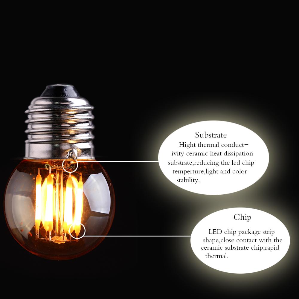 Dhl Free Vintage Led Filament Light Bulb 3w 2200k Gold Tint Edison
