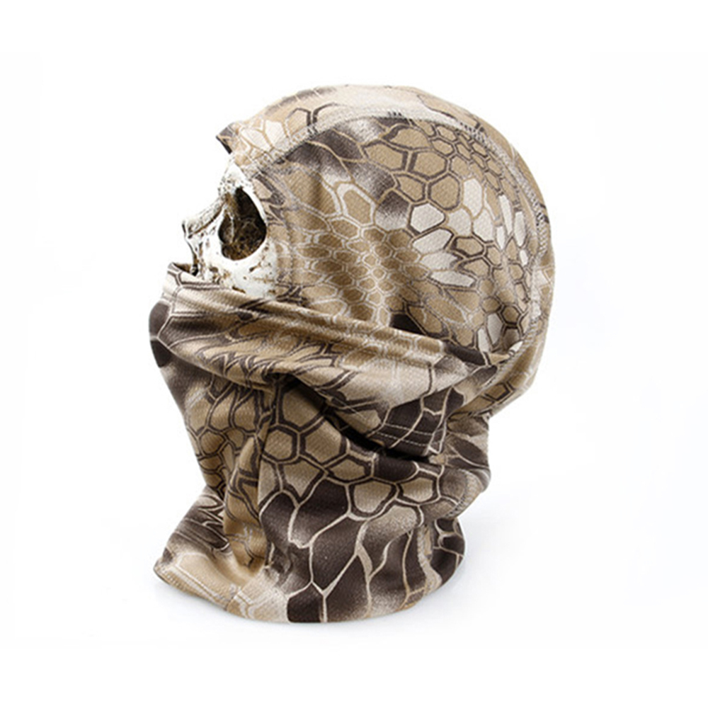 Rattlesnake Camouflage Tactical Headwear Face Ski Balaclava Ninja Mask Motorcycle Hunting Skiing Cycling Full Hood(China (Mainland))