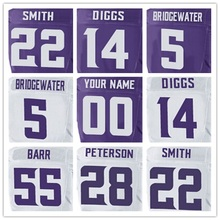 100% Stitched With Customized #5 Teddy #14 Stefon #22 Harrison #28 Adrian #55 Anthony Men's Elite Jersey Purple White Jersey(China (Mainland))