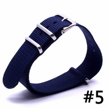 Buy Top Brand Luxury Men Watch Band Straps 16 18 22 24mm Dark Blue bracelet Nato fabric Nylon watchbands Strap Bands Buckle belt for $2.31 in AliExpress store
