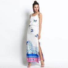 Buy 2017 Casual Sundress Sleeveless High Waist Print Summer Beach Dresses Sexy Spaghetti Strap Side Slit Party Dress Vestido u2 for $9.88 in AliExpress store