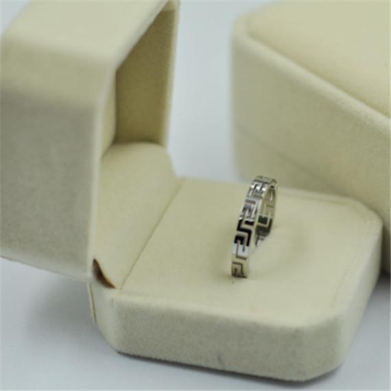 10Pcs/lot Greek Key Stainless Steel Rings jewellery for men/women trendy Fashion Jewelry  rock punk, Rosegold rings  Wholesale<br><br>Aliexpress