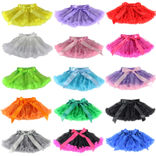 Retail Baby girls chiffon fluffy pettiskirts tutu Princess party skirts tutu skirt Ballet dance wear 1-10T Free Shipping