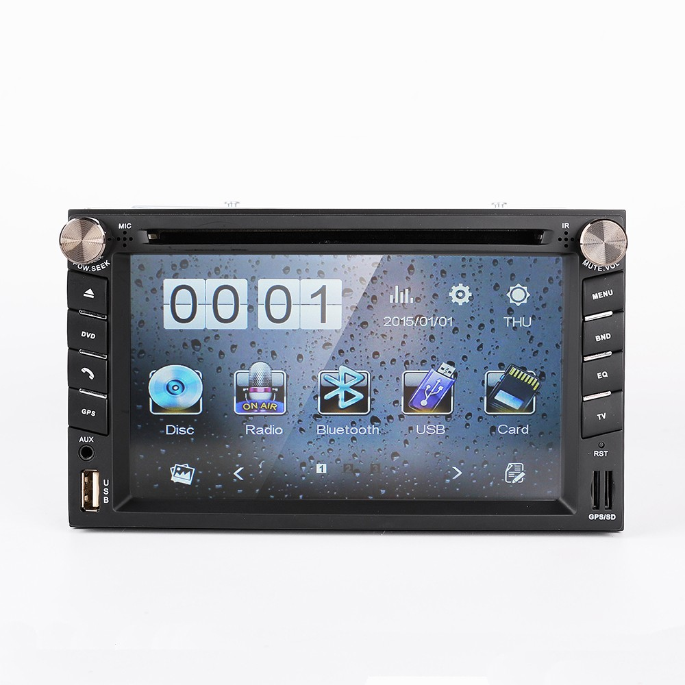 GPS Navigation Double 2DIN Car Stereo DVD Player Bluetooth MP3 FM Radio In Dash 6