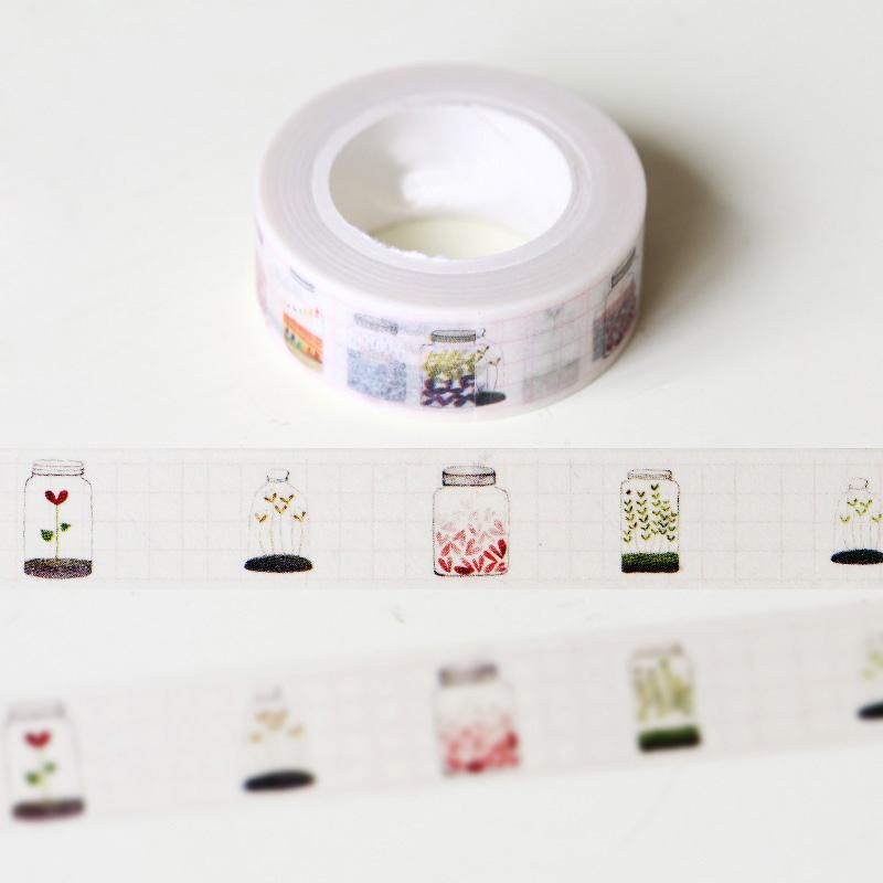 1 x glass bottle washi tape diy decoration scrapbooking for Decoration masking tape