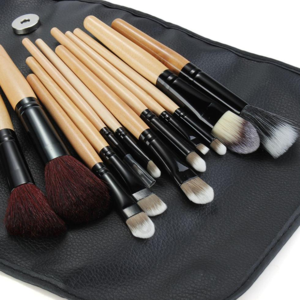 Xaestival Professional 12 Pieces Soft Makeup Brushes Tool Set Cosmetic Kit with Bag Free Shipping
