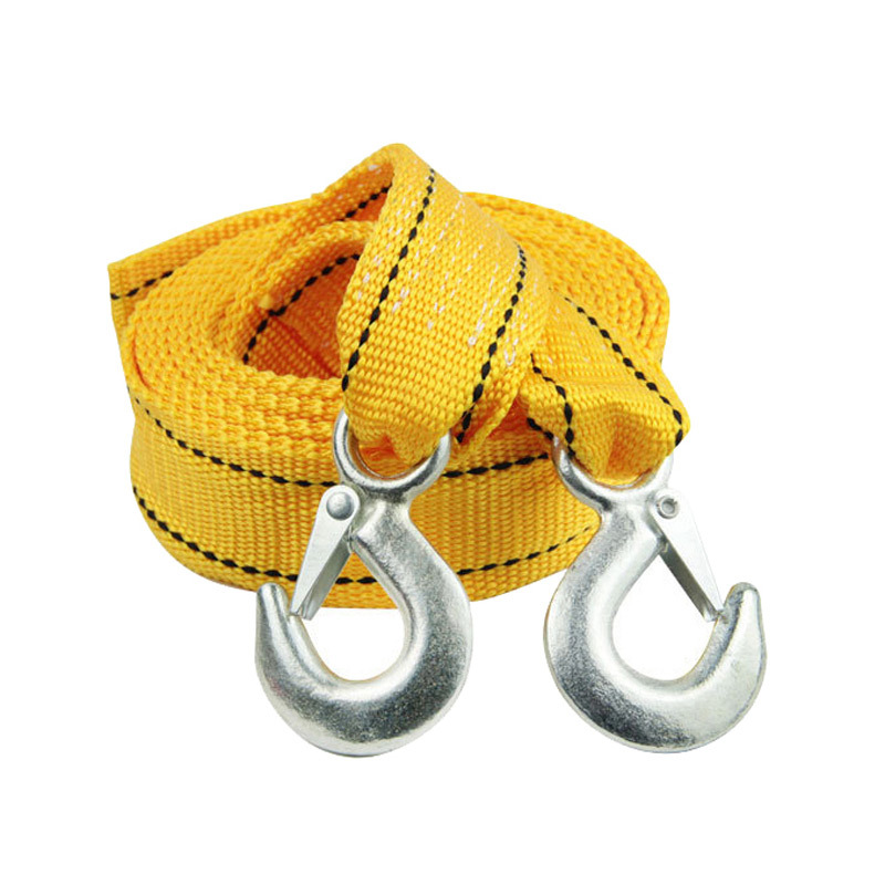 Car Auto Towing Cables 3 Meters 3 Tons Of Traction Rope Thickened Trailer Tow Strap Hooks()