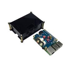 Raspberry Pi 3 Expansion Board HIFI DAC Analog Audio Sound Card Module I2S Interface + Black Acrylic Case 2 - Shenzhen Livetime Technology Co.,LTD store