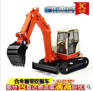 2015 brinquedos Diecasts & Toy Vehicles1:50 alloy Crawler Excavator engineering truck diecast scale models cars for children(China (Mainland))