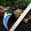Jeslon Cool Hunting Karambit Knife CS GO Never Fade Counter Strike Fighting Survival Tactical Knife Claw
