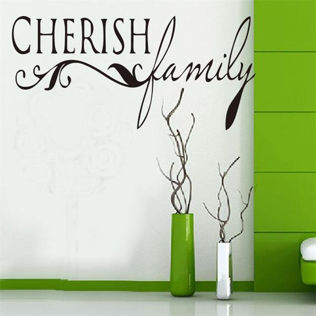 Берегите семейные цитировать на стены zooyoo8027 декоративные adesivo де parede съемный виниловые наклейки