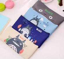 Cute Kawaii Fabric Pencil Case Lovely Cartoon Totoro Pen Bags For Kids Gift School Supplies Free Shipping(China (Mainland))